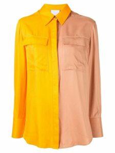 Acler Goldram colour block shirt - ORANGE