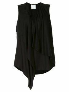 Acler Bearing draped loose-fit blouse - Black