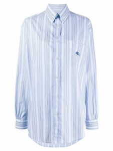 Etro striped long sleeve shirt - Blue