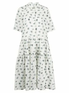 Cecilie Bahnsen Primrose super flared shirt dress - White