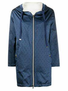 Herno logo print hooded jacket - Blue