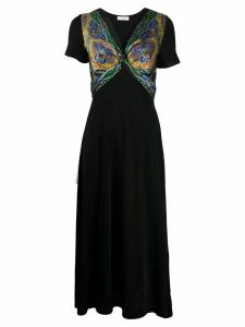 Sandro Paris paisley print maxi dress - Black