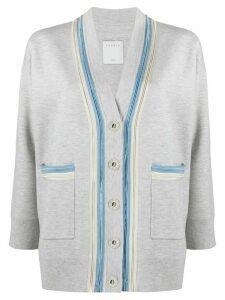 Sandro Paris double trim cardigan - Grey