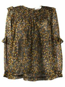 Ba & Sh floral-print blouse - Yellow