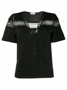 Sandro Paris lace embroidered blouse - Black