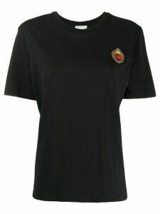 Sandro Paris embroidered short-sleeve T-shirt - Black