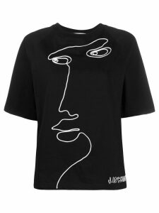 Moschino face print T-shirt - Black