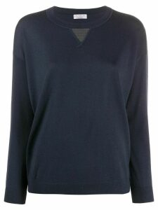 Brunello Cucinelli round neck sweatshirt - Blue
