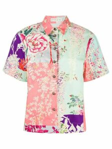 Etro floral print short sleeve shirt - Green