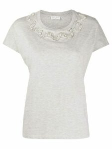 Sandro Paris crystal embellished T-shirt - Grey