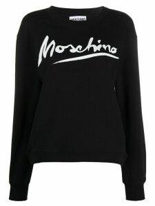 Moschino logo script sweatshirt - Black