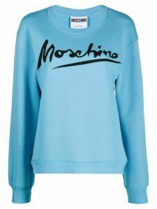 Moschino logo script sweatshirt - Blue