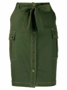 LIU JO buttoned straight skirt - Green