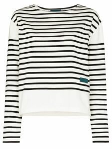Self Cinema breton striped organic cotton top - Black