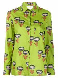 La Doublej cactus print longsleeved shirt - Green