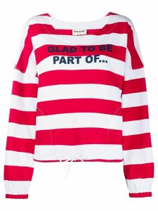 Semicouture wide stripes sweatshirt - Red