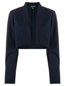 Lauren Ralph Lauren cropped knitted cardigan - Blue