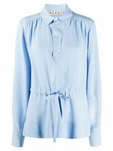 Marni drawstring-waist gathered blouse - Blue