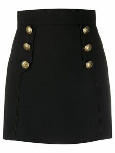 Elisabetta Franchi button-embellished mini skirt - Black