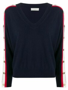 Sandro Paris button trim jumper - Blue
