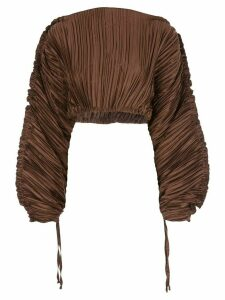 Cult Gaia Mala plissé top - Brown