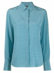 Loro Piana dash print blouse - Blue