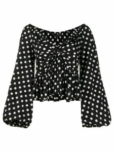 Caroline Constas polka dot off-the-shoulder top - Black