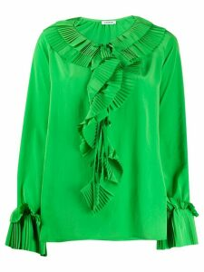 P.A.R.O.S.H. pleated trim loose-fit blouse - Green