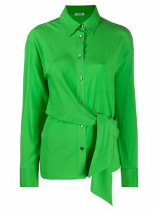 P.A.R.O.S.H. tie-waist loose-fit shirt - Green