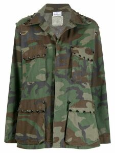 P.A.R.O.S.H. studded camouflage-print jacket - Green