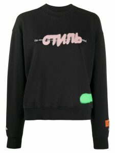 Heron Preston sprayed logo sweatshirt - Black