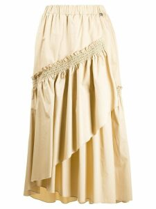 Twin-Set layered midi skirt - NEUTRALS