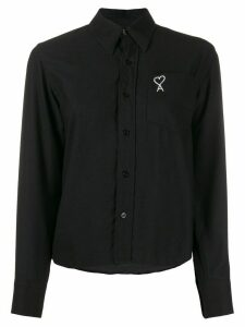 Ami Paris embroidered logo shirt - Black