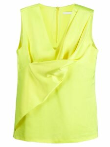 Helmut Lang draped top - Yellow