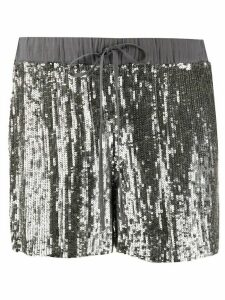 P.A.R.O.S.H. sequinned straight-leg shorts - SILVER