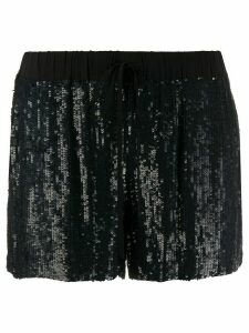 P.A.R.O.S.H. sequinned straight-leg shorts - Blue