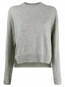 Closed relaxed-fit cropped jumper - Grey