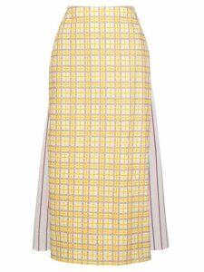 Rosie Assoulin check midi skirt - Yellow