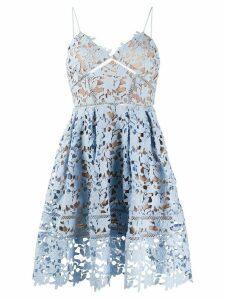 Self-Portrait Azaelea lace mini dress - Blue