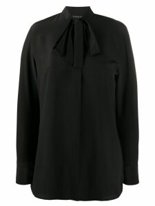 Etro tie-neck crepe blouse - Black