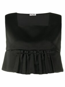 Miu Miu pleated crop top - Black
