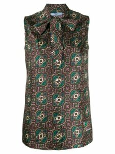Prada arabesque motif shirt - Brown