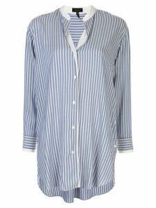 Rag & Bone asymmetric hem striped shirt - Blue