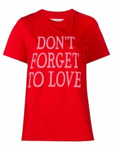 Alberta Ferretti Don't Forget To Love print T-shirt - Red