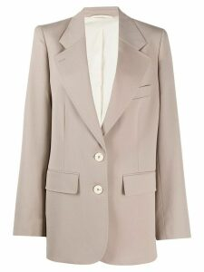 Lemaire oversized single-breasted blazer - NEUTRALS