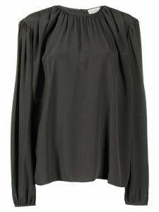 Lemaire silk oversized long-sleeve blouse - Green