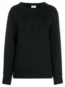 Moncler logo-embroidered sweatshirt - Black