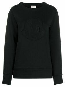 Moncler logo-embroidered sweatshirt - Black