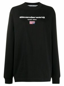 Alexander Wang logo print sweatshirt - Black