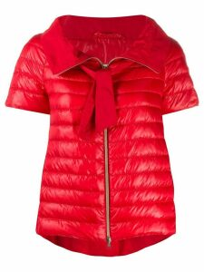 Herno short-sleeved quilted-down jacket - Red